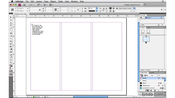 Flowing text into frames automatically: InDesign CS4 Power Shortcuts