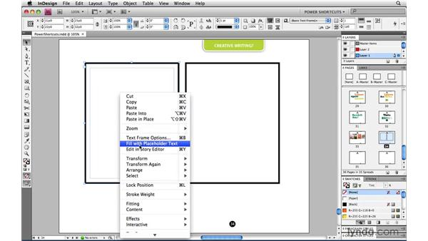 : InDesign CS4 Power Shortcuts