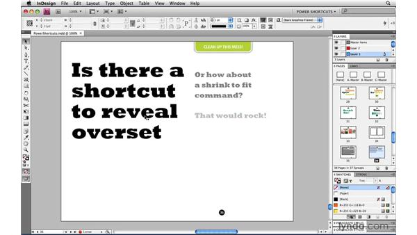 Fit Frame to Text: InDesign CS4 Power Shortcuts