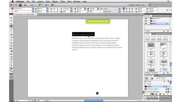 Better font previews: InDesign CS4 Power Shortcuts