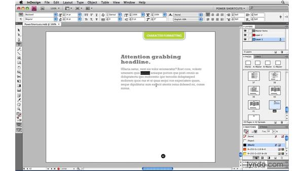 Smart Bold and Smart Italic: InDesign CS4 Power Shortcuts