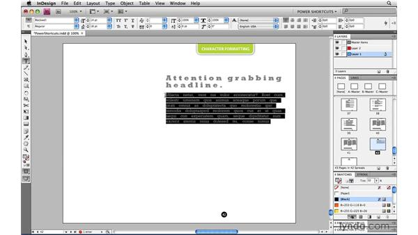 Resetting kerning tracking and word space back to zero: InDesign CS4 Power Shortcuts