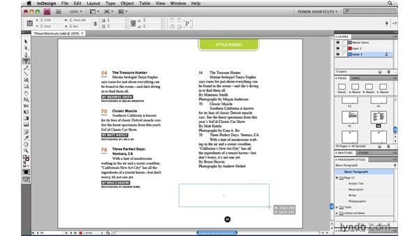 Formatting an entire document of text with one click: InDesign CS4 Power Shortcuts