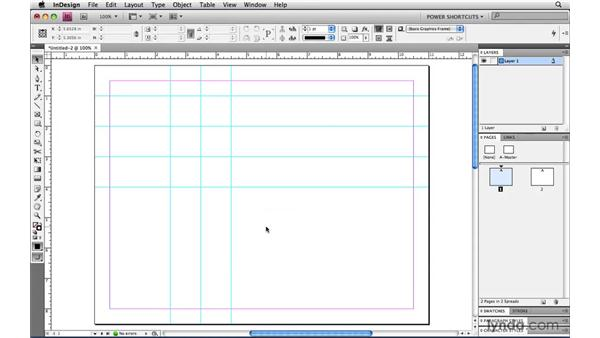 Selecting all guides on a spread: InDesign CS4 Power Shortcuts