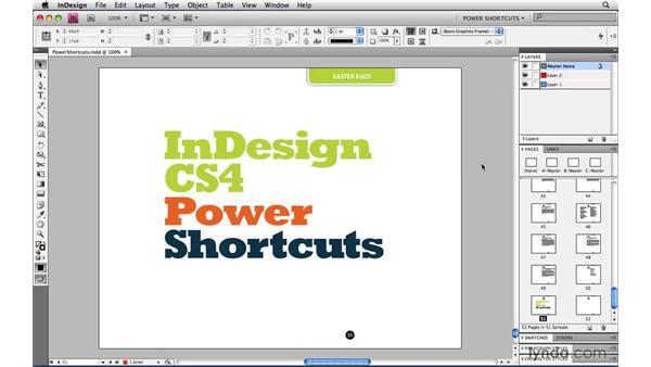 noallcaps: InDesign CS4 Power Shortcuts