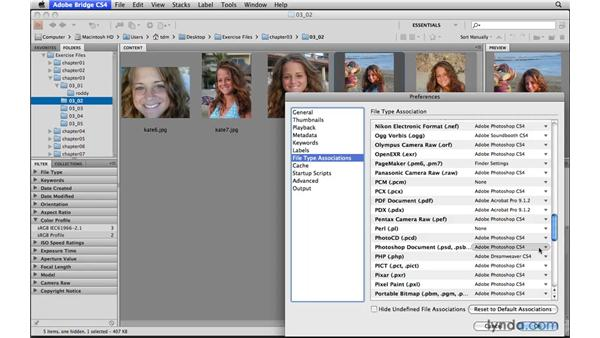 Opening files from Bridge into Elements: Photoshop Elements 8 for Mac Essential Training