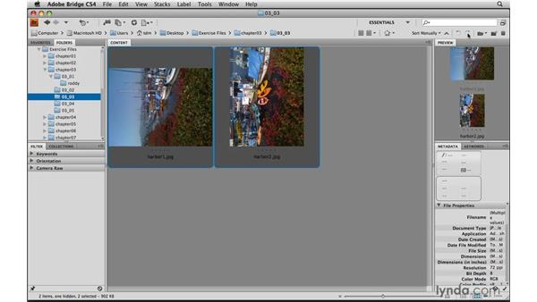 Rotating photos: Photoshop Elements 8 for Mac Essential Training