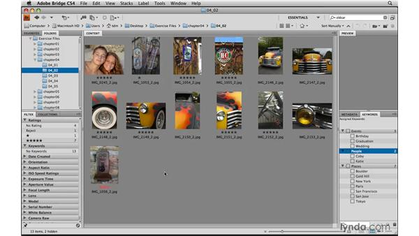 Rating and labeling photos: Photoshop Elements 8 for Mac Essential Training