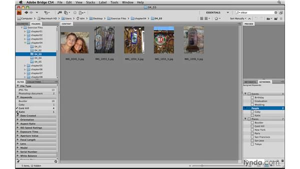 Sorting photos by filter: Photoshop Elements 8 for Mac Essential Training