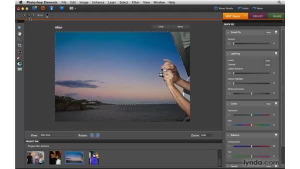 Using Quick Fix touchup tools: Photoshop Elements 8 for Mac Essential Training