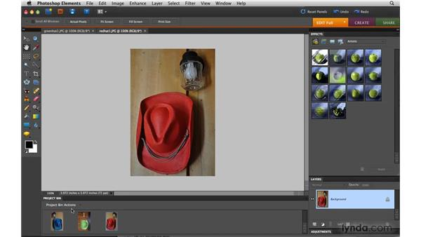 Working with tabbed documents: Photoshop Elements 8 for Mac Essential Training