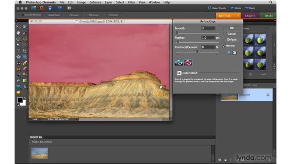 Refining a selection: Photoshop Elements 8 for Mac Essential Training