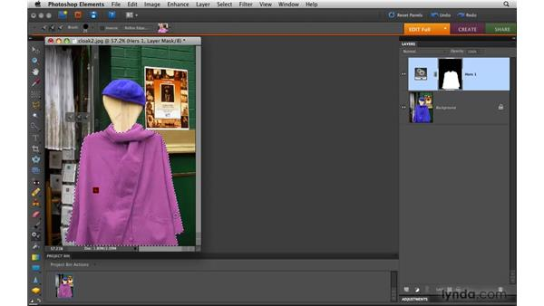 Using the Smart Brush tool: Photoshop Elements 8 for Mac Essential Training