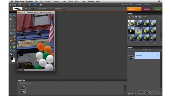 Dodging and burning: Photoshop Elements 8 for Mac Essential Training