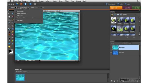 Using the Cookie Cutter tool: Photoshop Elements 8 for Mac Essential Training