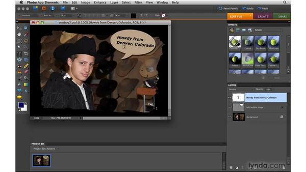 Editing text: Photoshop Elements 8 for Mac Essential Training
