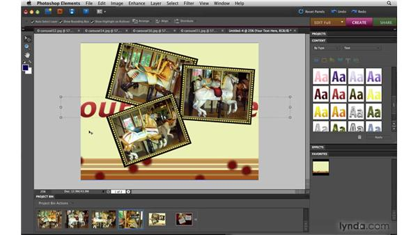 Making a photo collage: Photoshop Elements 8 for Mac Essential Training