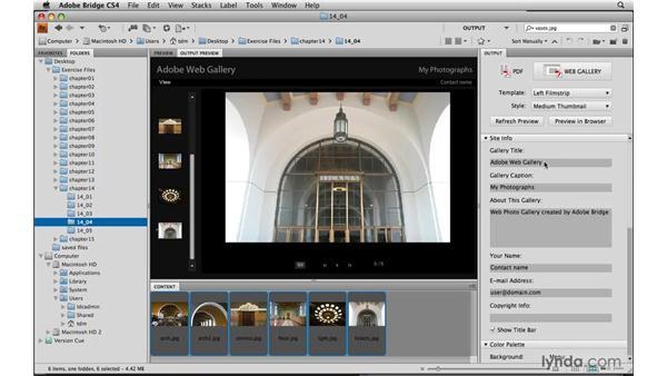 Creating web galleries in Bridge: Photoshop Elements 8 for Mac Essential Training