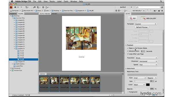 Creating a PDF slideshow: Photoshop Elements 8 for Mac Essential Training