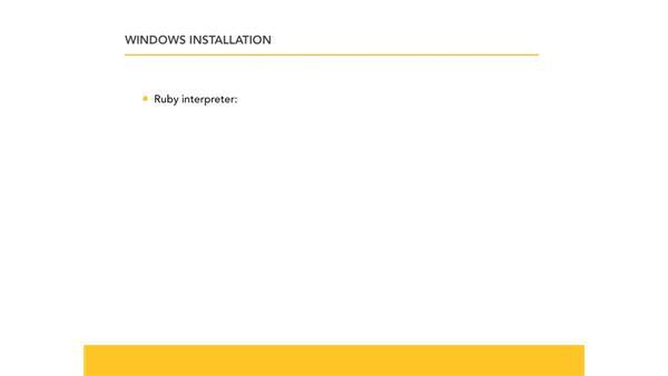 Installing Ruby on Windows: Ruby Essential Training