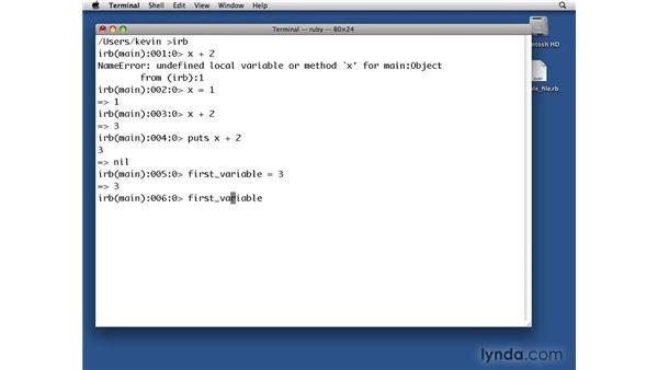 Variables: Ruby Essential Training