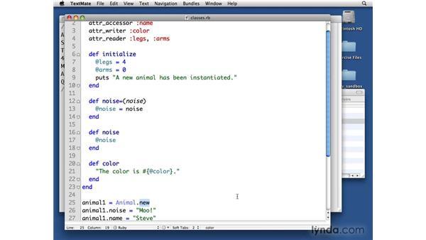 Initialize method: Ruby Essential Training