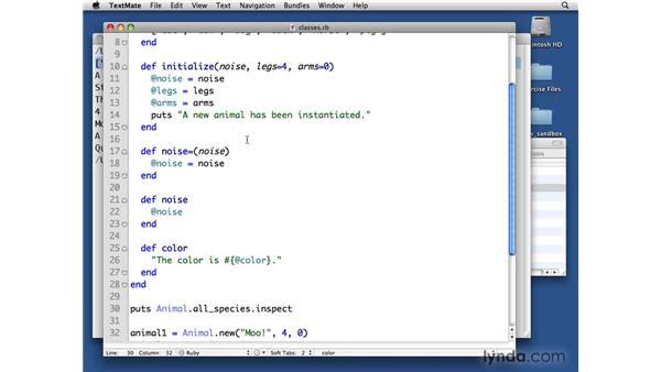Class methods: Ruby Essential Training