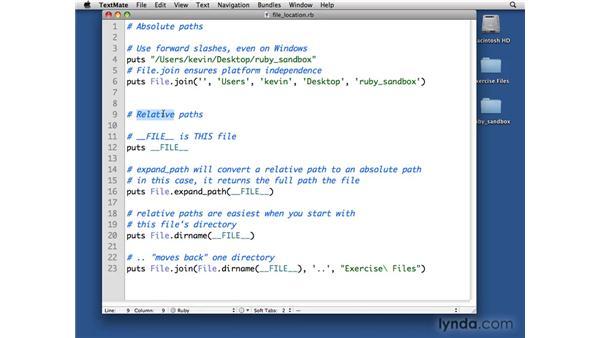 File paths: Ruby Essential Training