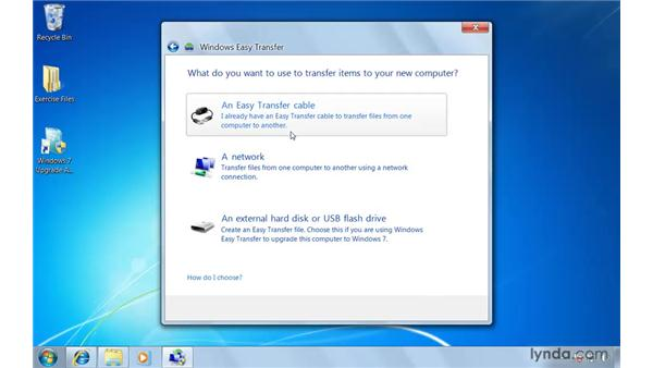 Transferring old files with Windows Easy Transfer: Windows 7 Essential Training