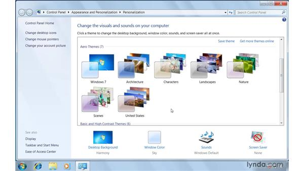 Getting familiar with the desktop: Windows 7 Essential Training