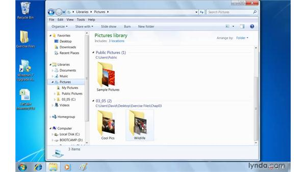 Simplifying organization with libraries: Windows 7 Essential Training