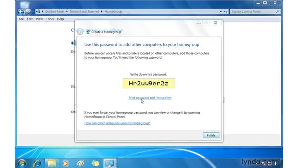 Create a home network using HomeGroup: Windows 7 Essential Training