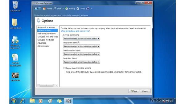 Battling spyware with Windows Defender: Windows 7 Essential Training