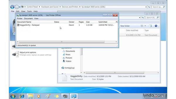 Printing power tips: Windows 7 Essential Training