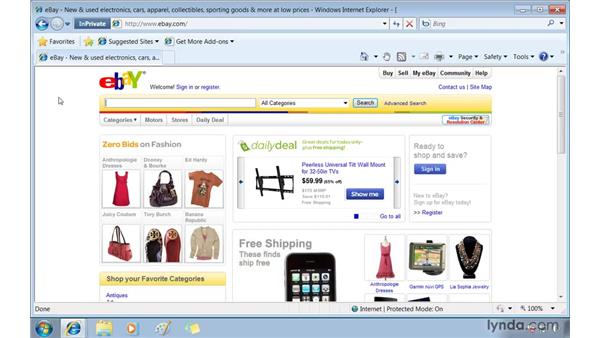 Keeping your browsing private using InPrivate Browsing and filtering: Windows 7 Essential Training