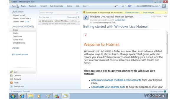 Free email with Windows Live Mail: Windows 7 Essential Training