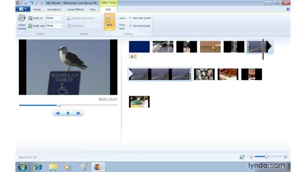 Creating a movie with Windows Live Movie Maker: Windows 7 Essential Training