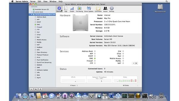 Exploring the changes in Sever Admin: Mac OS X Server 10.6 Snow Leopard New Features