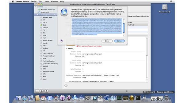 Managing an SSL certificate: Mac OS X Server 10.6 Snow Leopard New Features