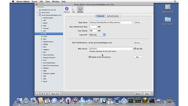 Setting up iCal server: Mac OS X Server 10.6 Snow Leopard New Features