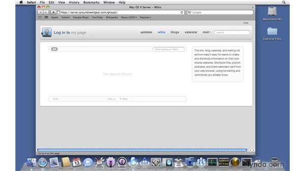 Administrating Wiki Server via the web: Mac OS X Server 10.6 Snow Leopard New Features