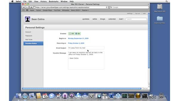Touring Wiki Server options: Mac OS X Server 10.6 Snow Leopard New Features