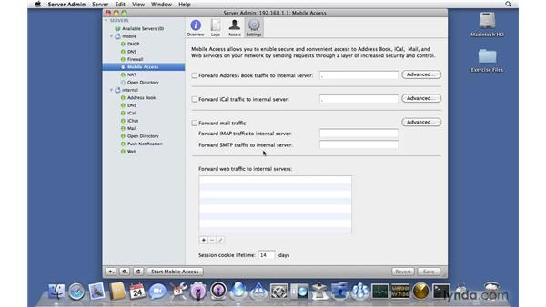 Performing a basic setup of Mobile Access Server: Mac OS X Server 10.6 Snow Leopard New Features