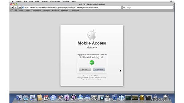 Testing Mobile Access Server: Mac OS X Server 10.6 Snow Leopard New Features
