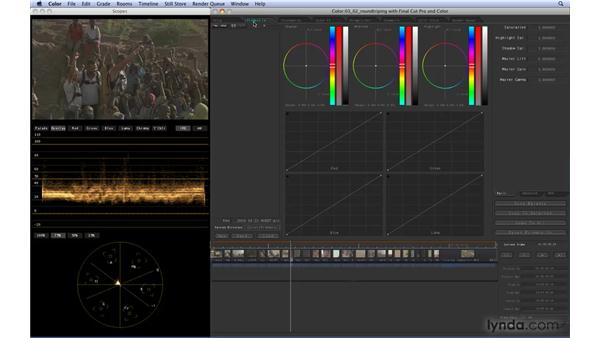 Round-tripping with Final Cut Pro and Color: Color 1.5 Essential Training