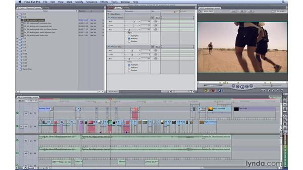 Evaluating a Final Cut project: Color 1.5 Essential Training