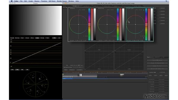 Using the Color Balance controls to affect tonal range: Color 1.5 Essential Training