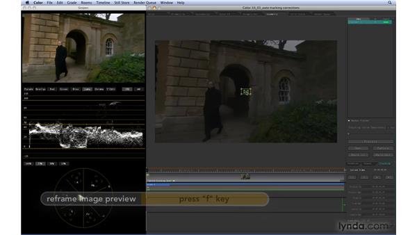 Automatically motion-tracking corrections: Color 1.5 Essential Training