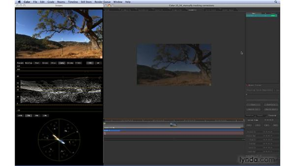 Manually motion-tracking corrections: Color 1.5 Essential Training