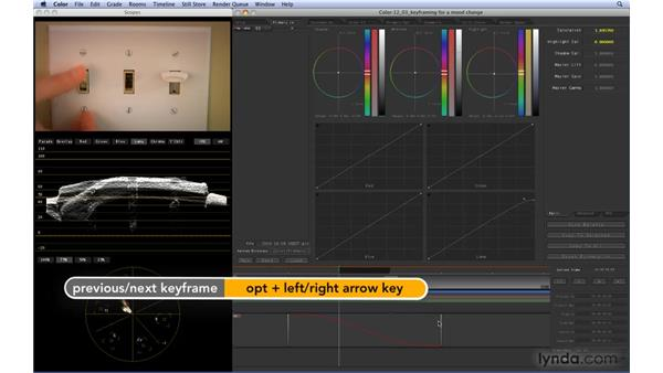 Keyframing for a mood change: Color 1.5 Essential Training